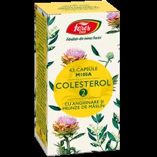Colesterol 2 cu anghinare si frunze de măslin, capsule