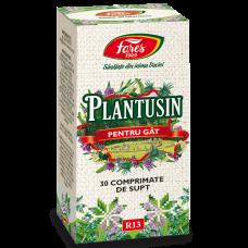 Plantusin pentru gât, comprimate de supt